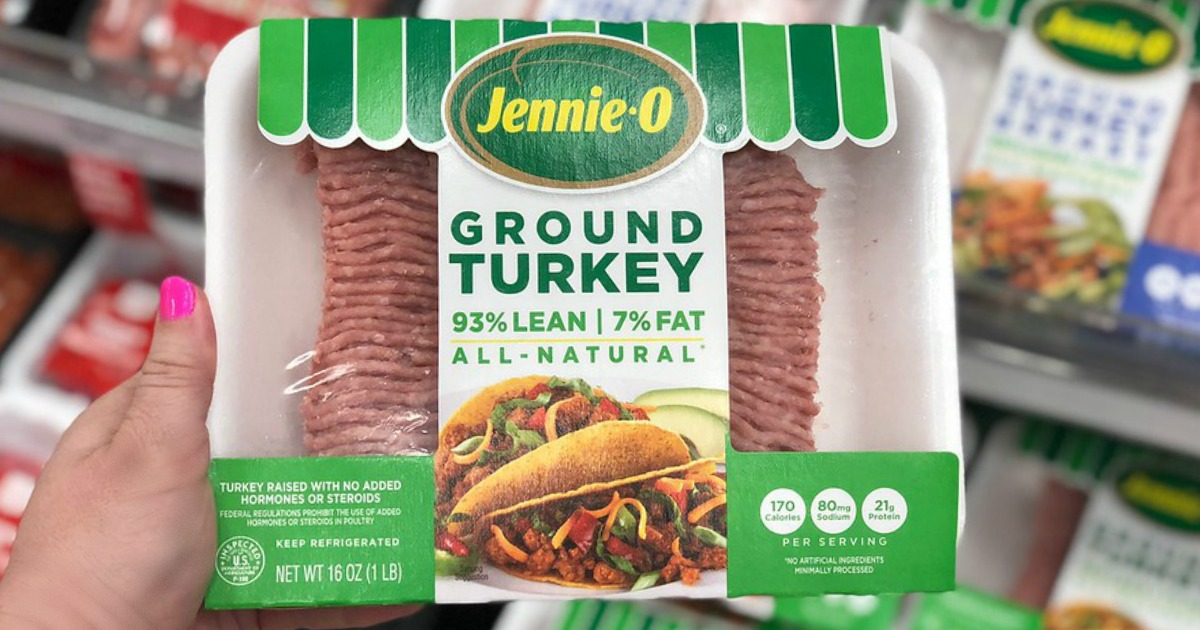 food recalls include raw turkey and McDonalds salads – Pictured here, jennie-o ground turkey