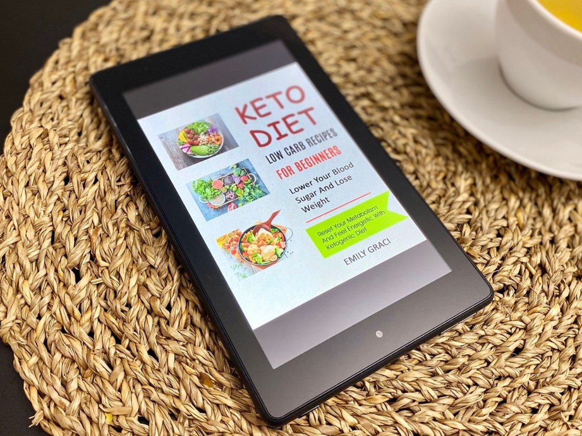 Kindle showing cover of Keto Diet book