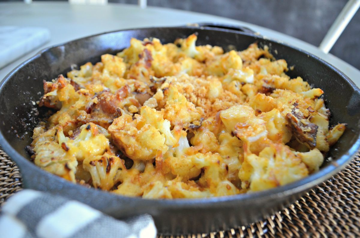 Keto Cauliflower Mac & Cheese – cooked and delicious in the pan