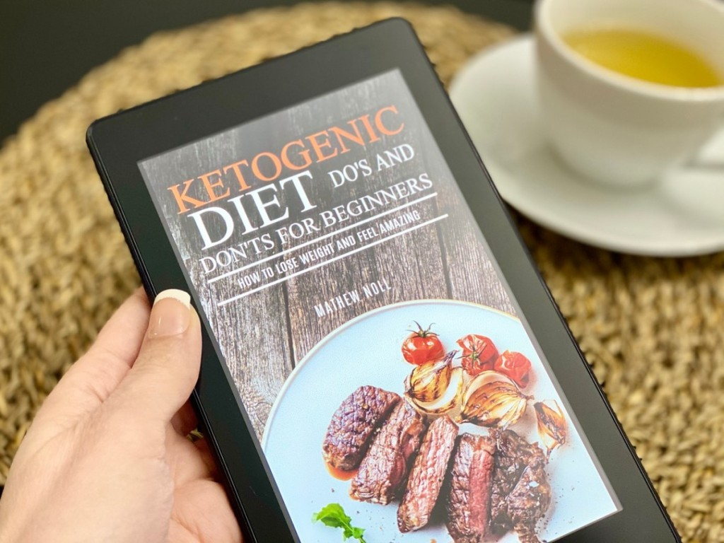 ketogenic diet book on a Kindle