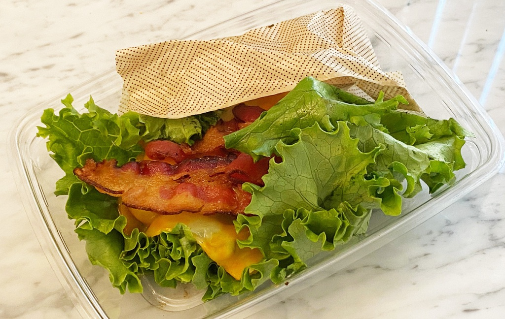 lettuce wrapped grilled chicken club