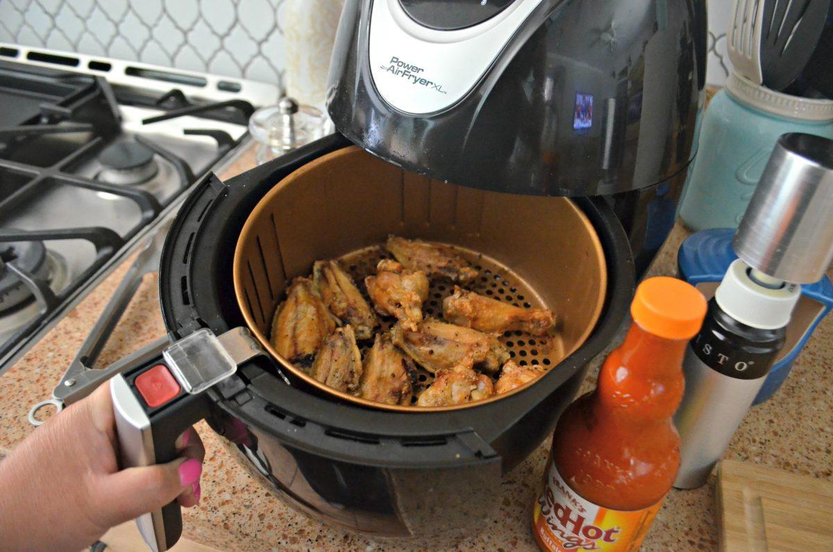 air fryer chicken wings – in the air fryer