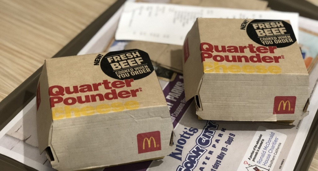 2 quarter pounder boxes