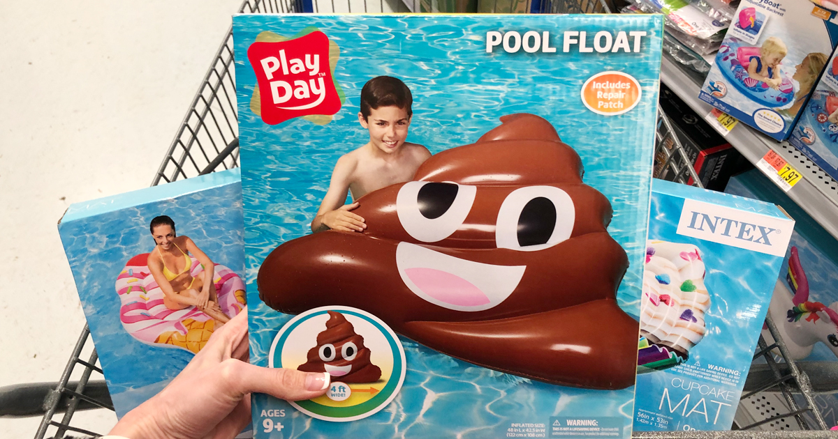 favorite poop related products -poop emoji float