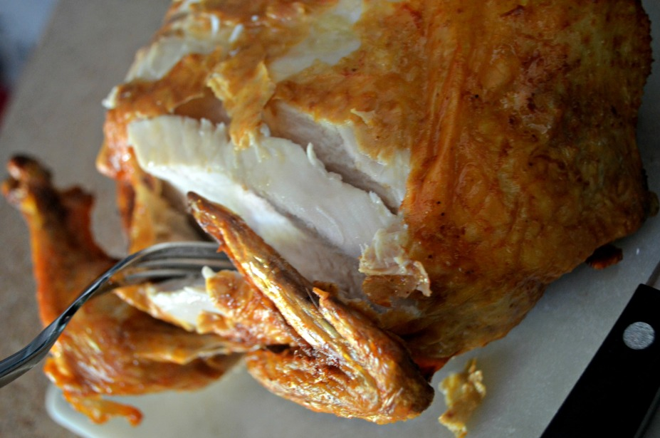 Cook a Whole Chicken in the Air Fryer - Carving the chicken