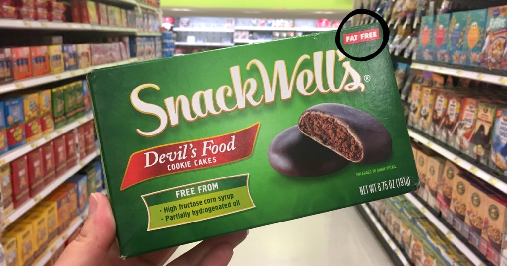 holding box of SnackWell's fat free cookies