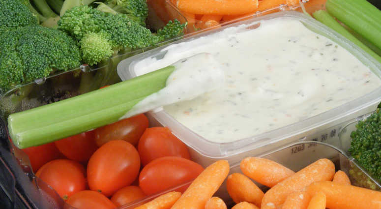 food recalls include raw turkey and McDonalds salads – Pictured here, Del Monte Veggie Trays