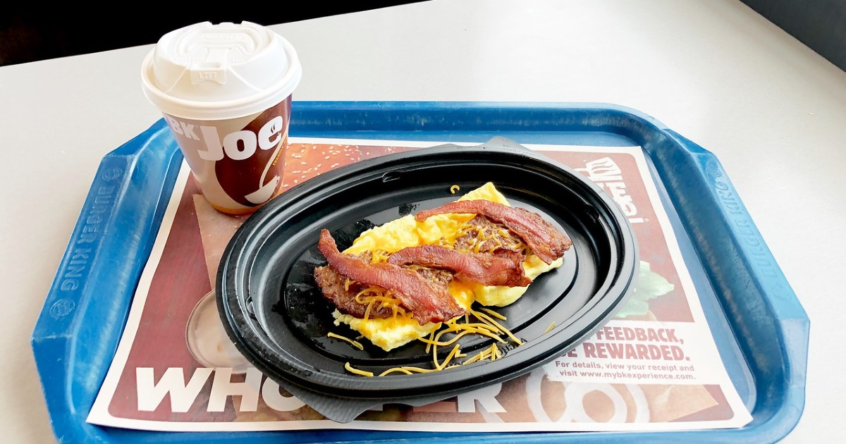 Burger King keto dining guide – breakfast bowl and coffee