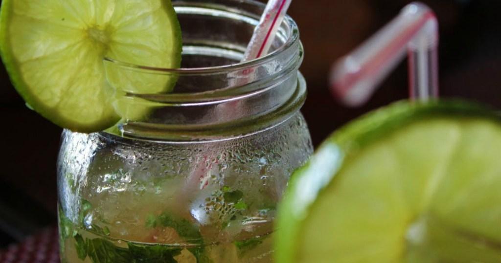 drinks in mason jars