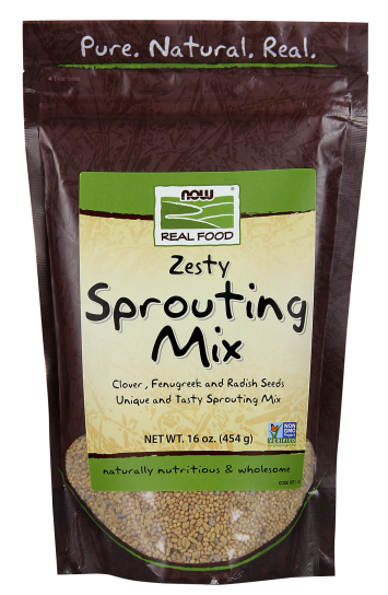 food recalls include raw turkey and McDonalds salads – Pictured here, Now Foods Sprouting Mix