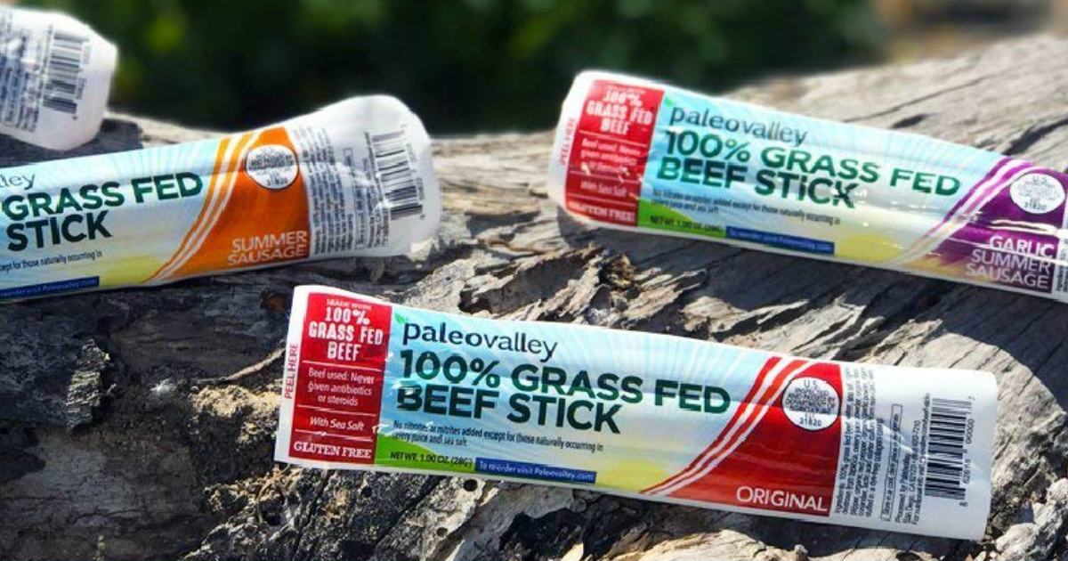 Amazon Deal: Paleovalley Grass Fed Beef Sticks