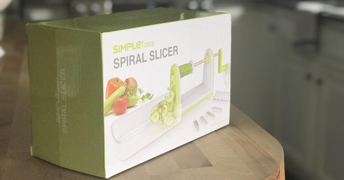 amazon simpletaste spiralizer deal - the spiral slicer in the box