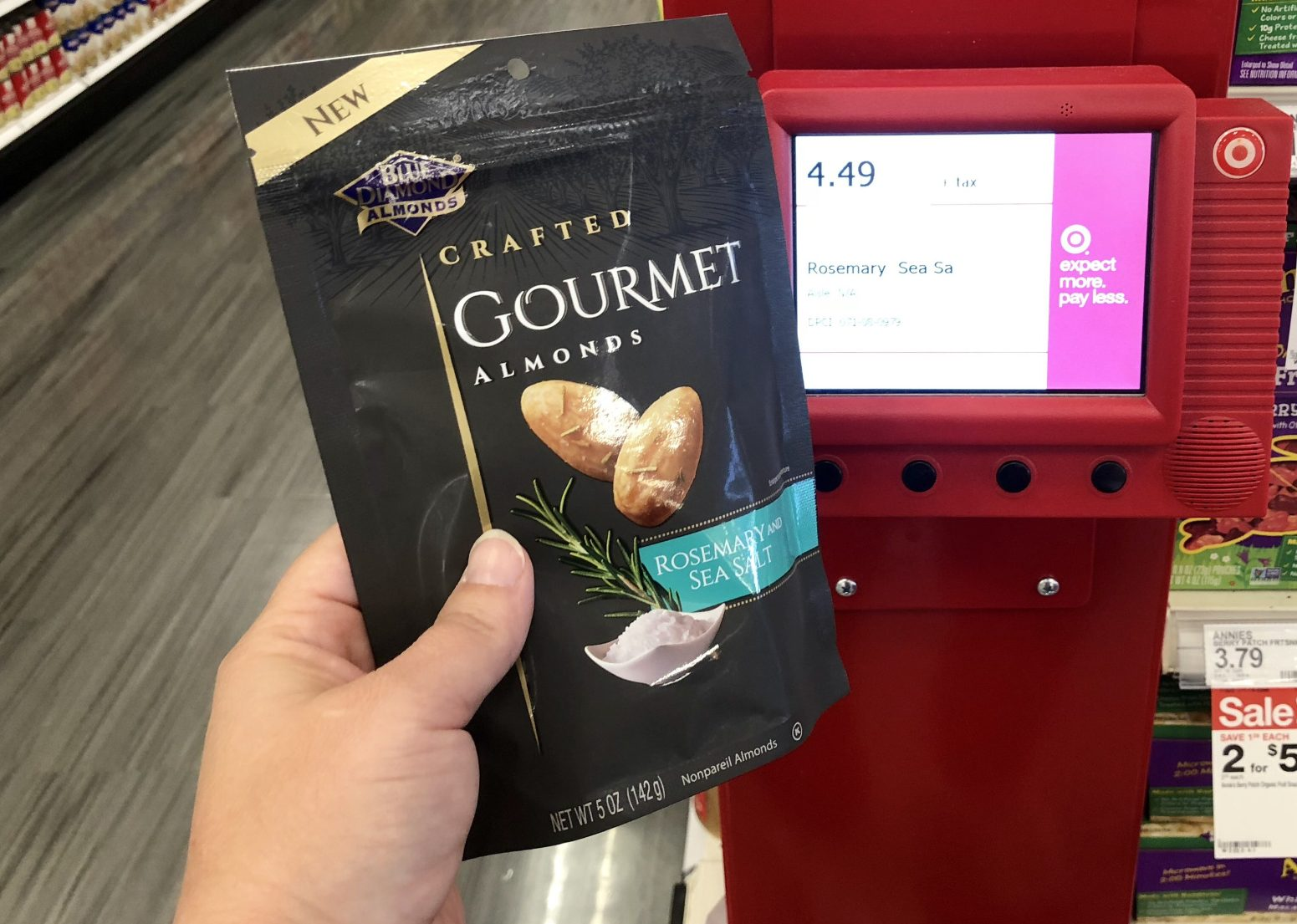 blue diamond gourmet almonds - Scanning the deal at Target