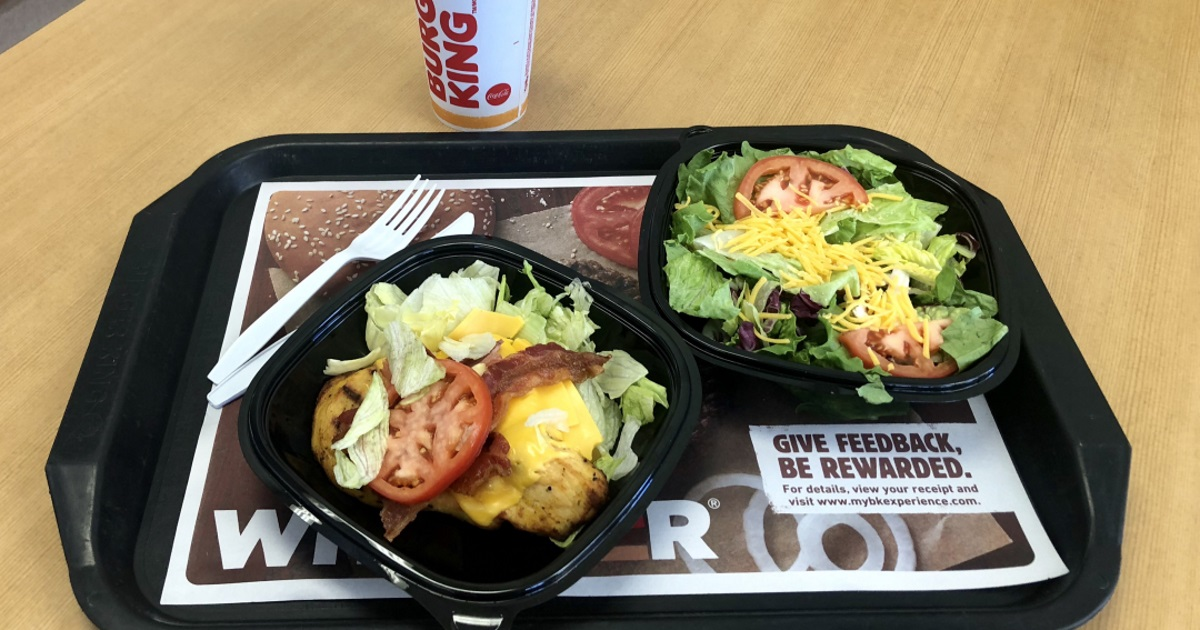 Burger King keto dining guide – chicken sandwich and salad