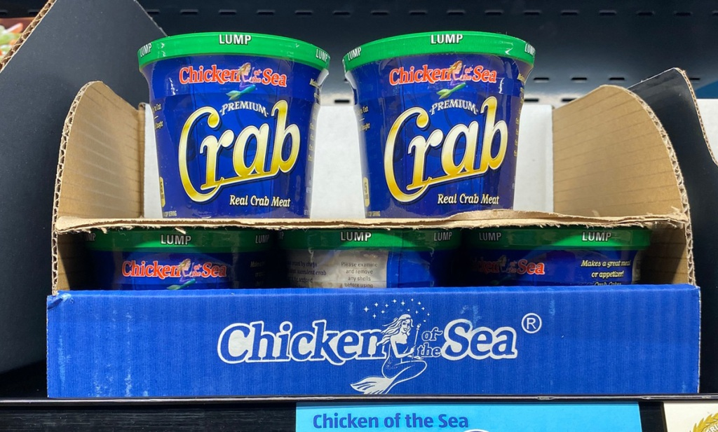 chicken of the sea crab meat on shelf