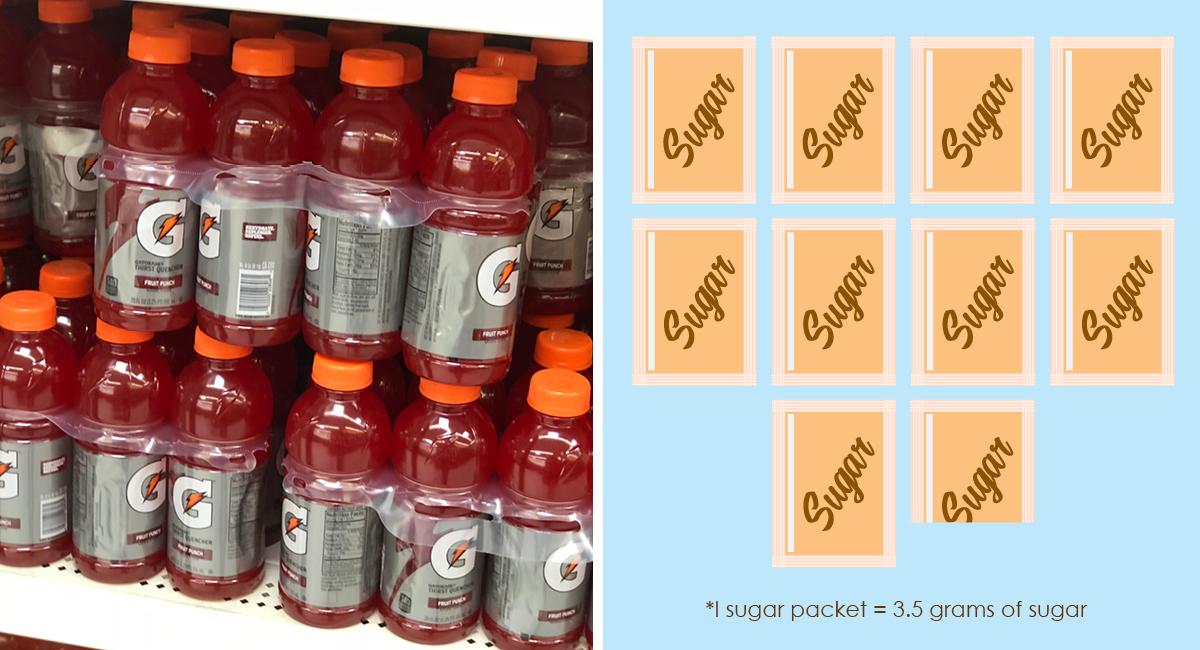 foods with hidden sugar and keto options — gatorade sugar packet comparison