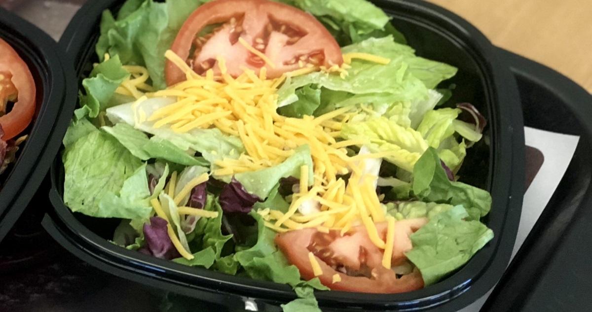 Burger King keto dining guide – side salad