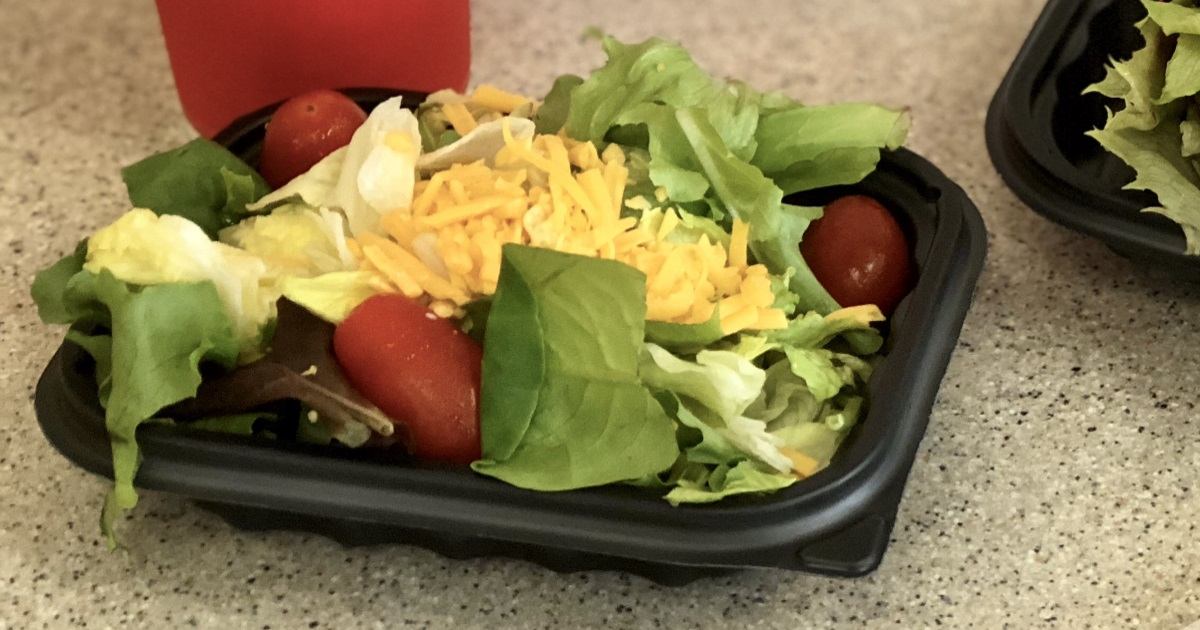 wendys keto dining guide – side salad