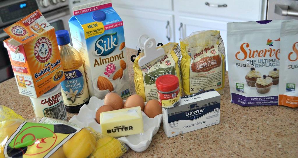 Keto Poppy Seed Lemon Bundt Cake - the ingredients