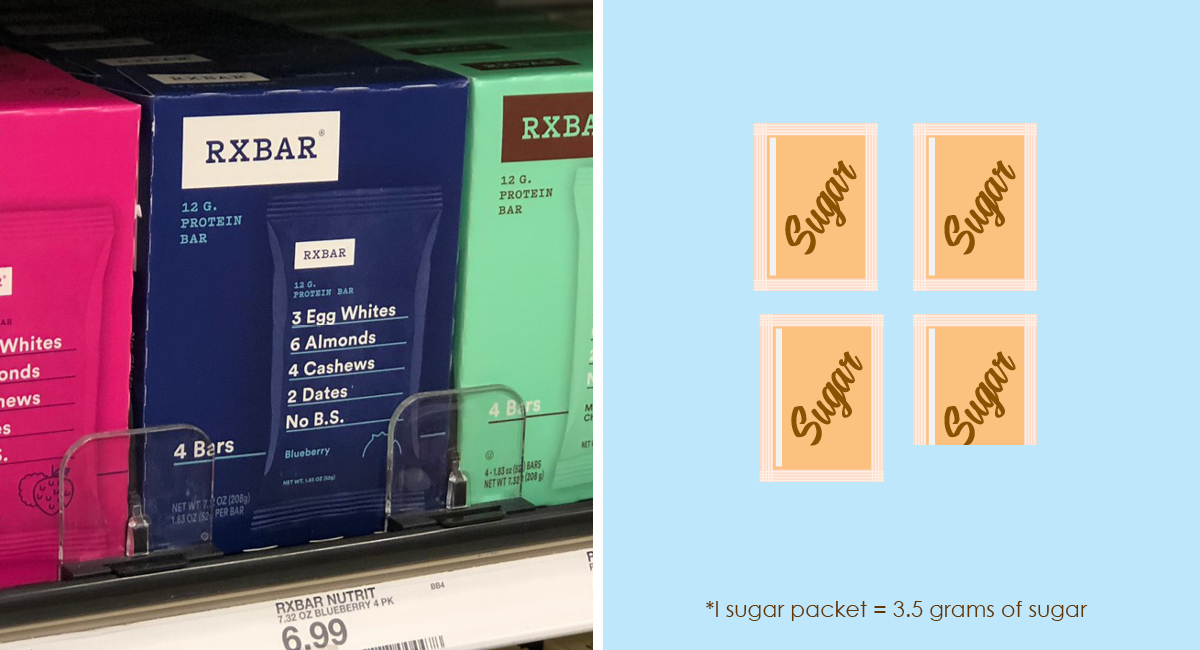 foods with hidden sugar and keto options — rx protein bar sugar comparison