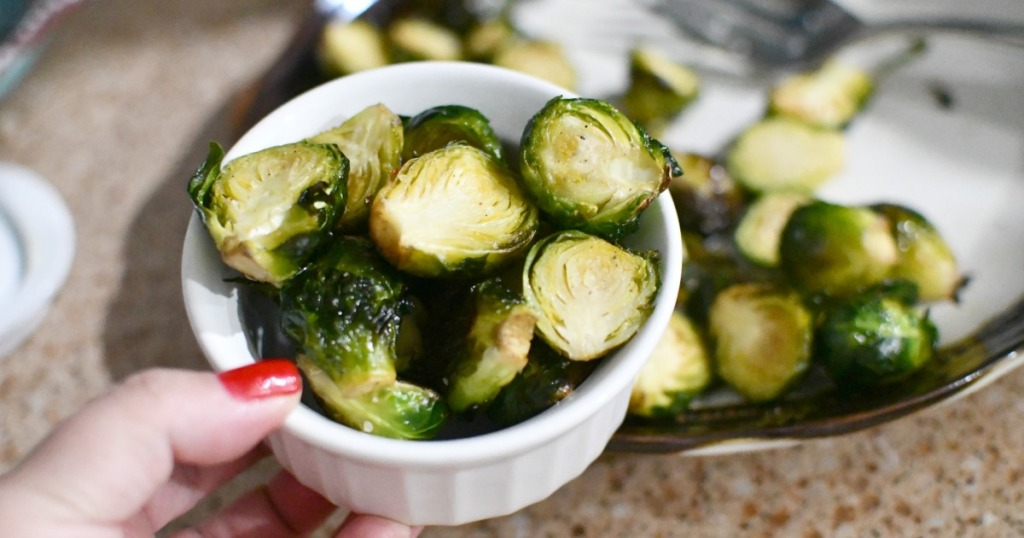 side dish with roasted brussels sprouts