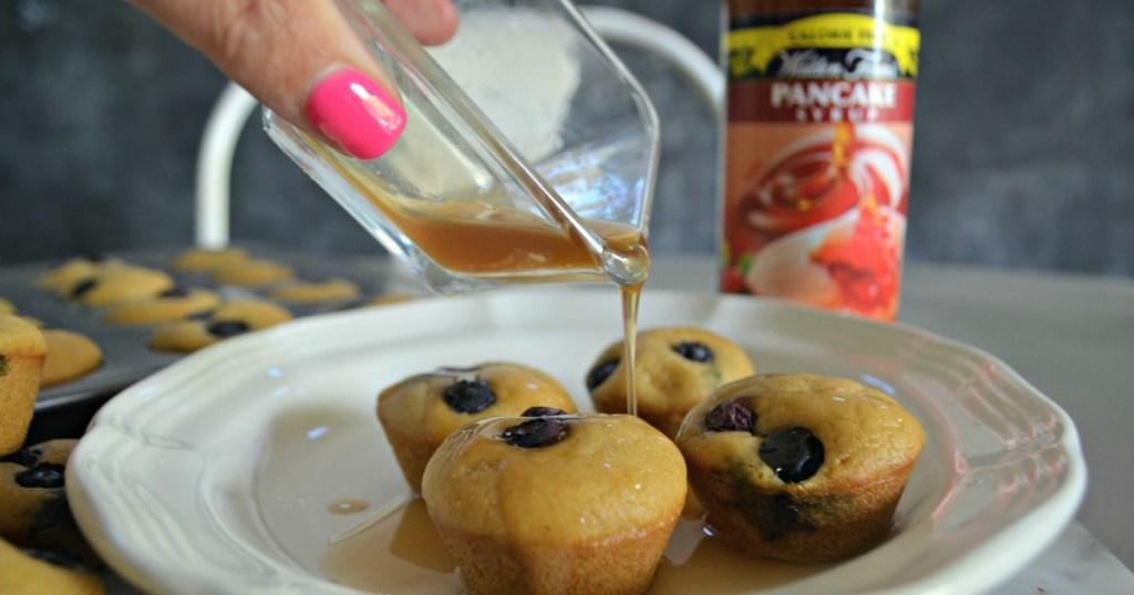 Keto Mini Blueberry Pancake Bites