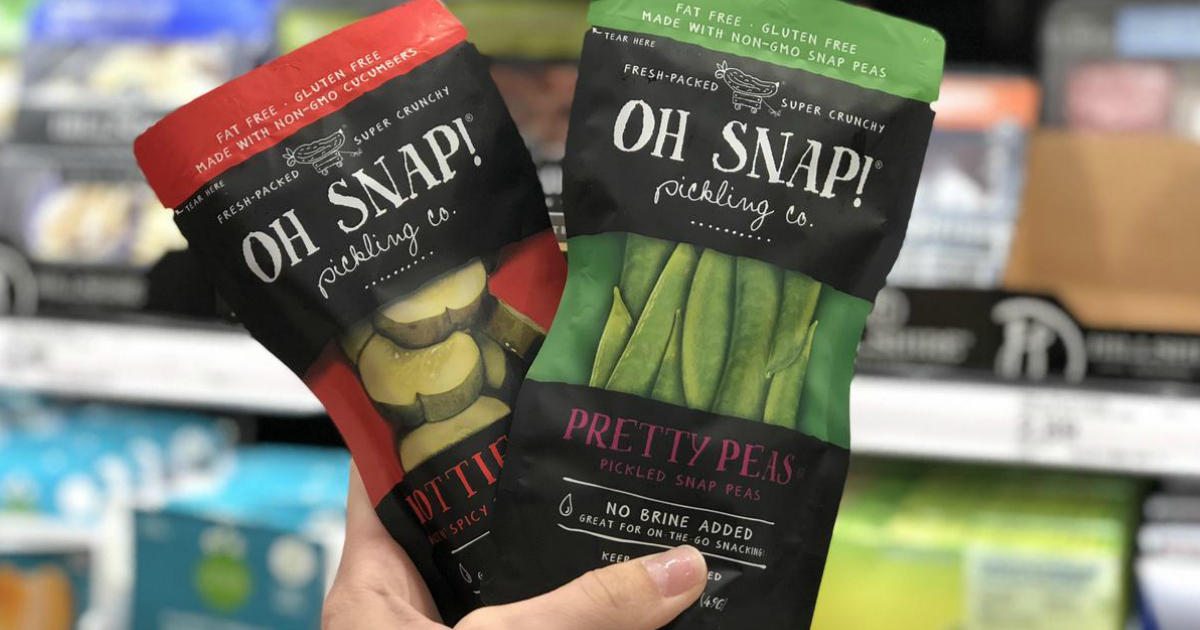 OH SNAP! Veggies at Target like these pickles and snap peas are a great keto treat