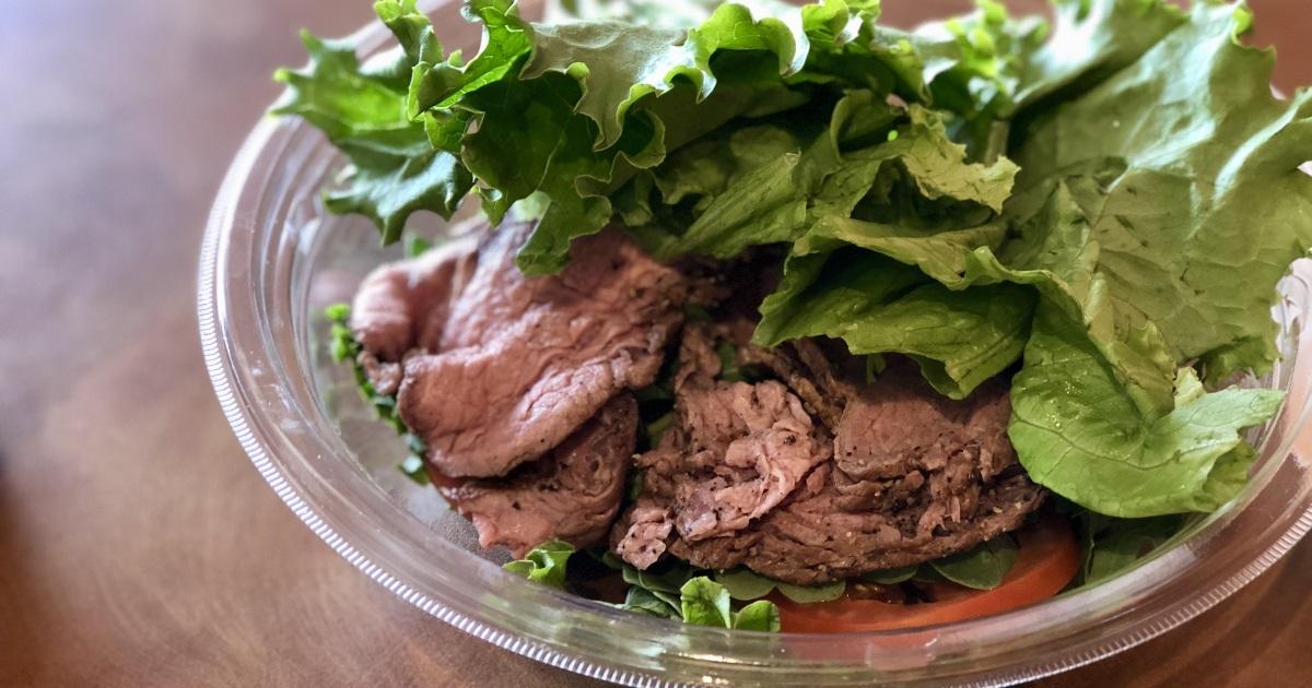 panera keto dining guide – steak sandwich as a salad