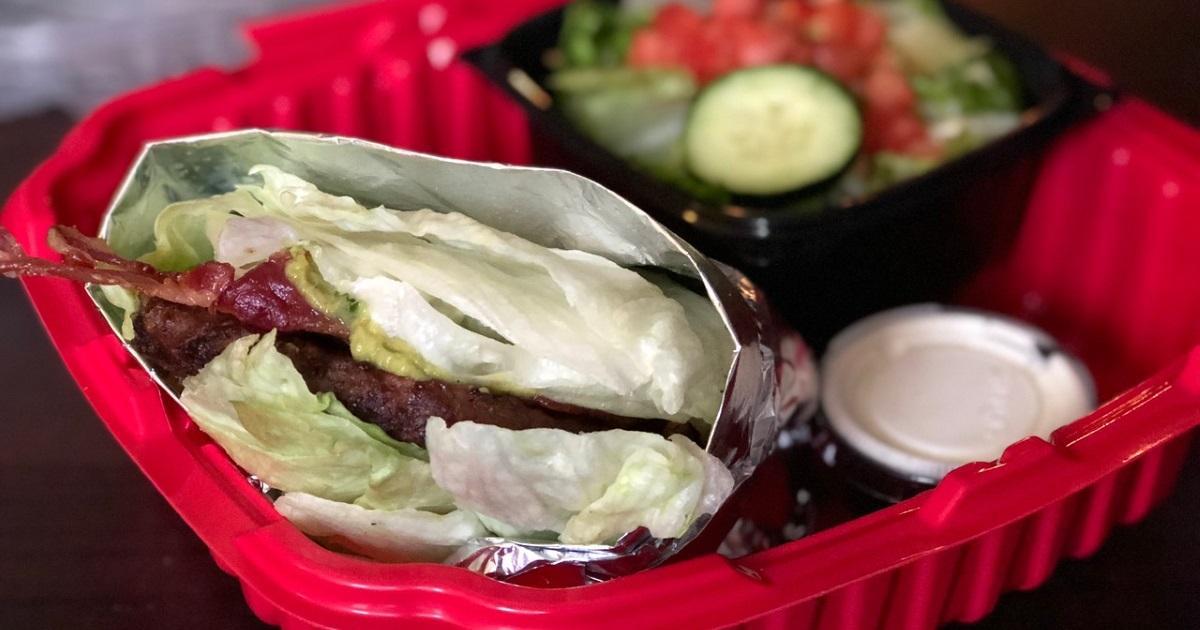 red robin keto dining guide – burger closeup