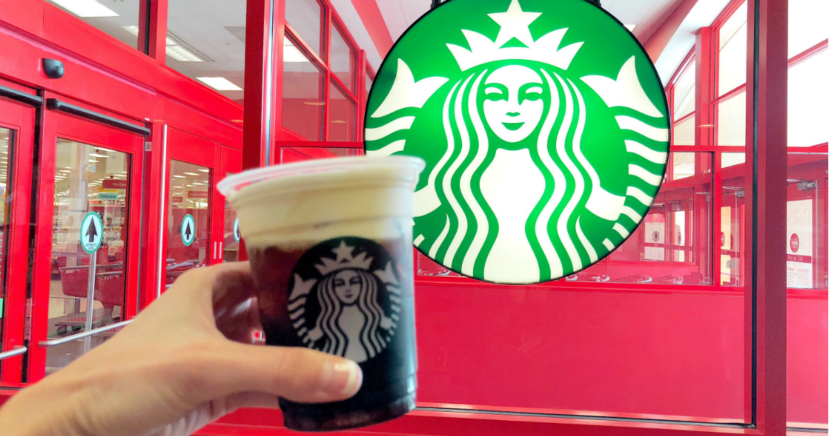 Starbucks coffee at Target - heavy cream in place of milk and sugar free vanilla syrup in place of regular