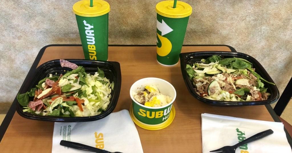 Subway salads and breakfast Hip2Keto