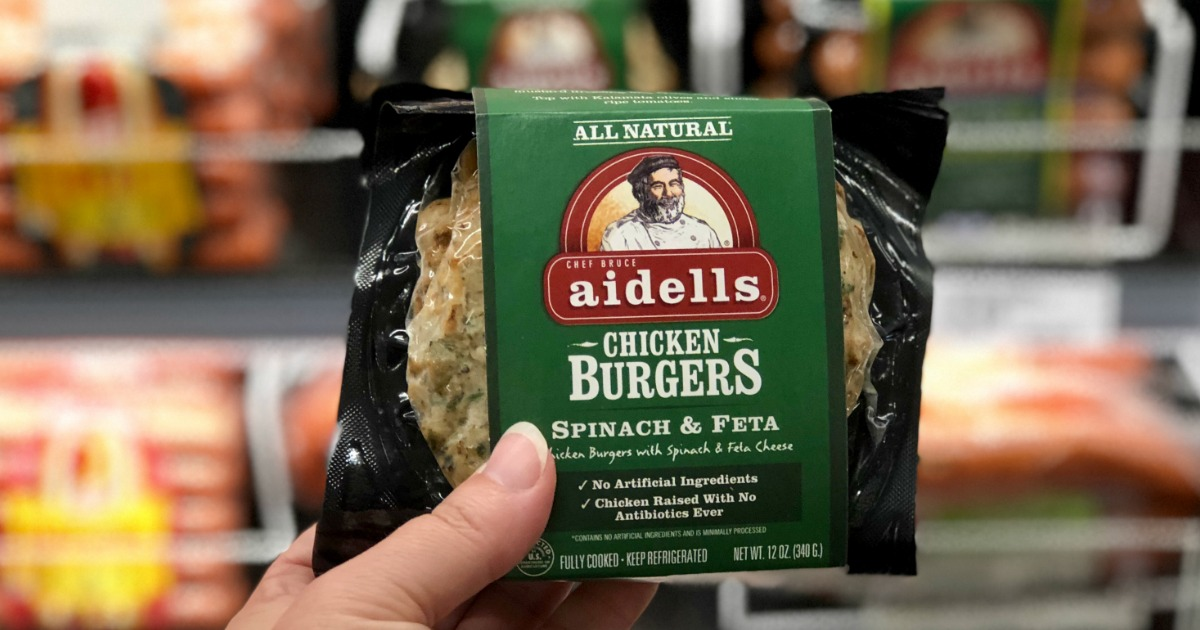 Get target deals on veggies and meats – Aidells chicken burgers