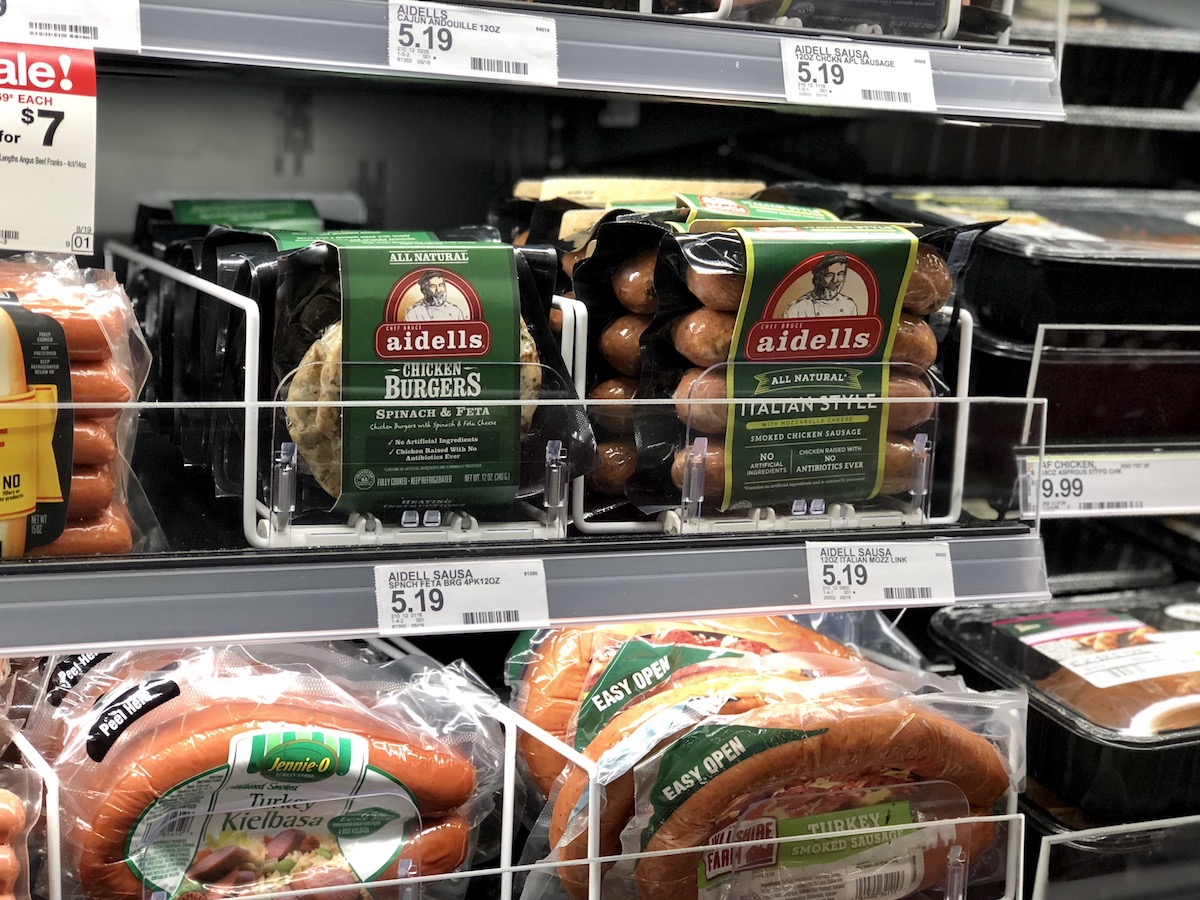 Get target deals on veggies and meats – aidells at target