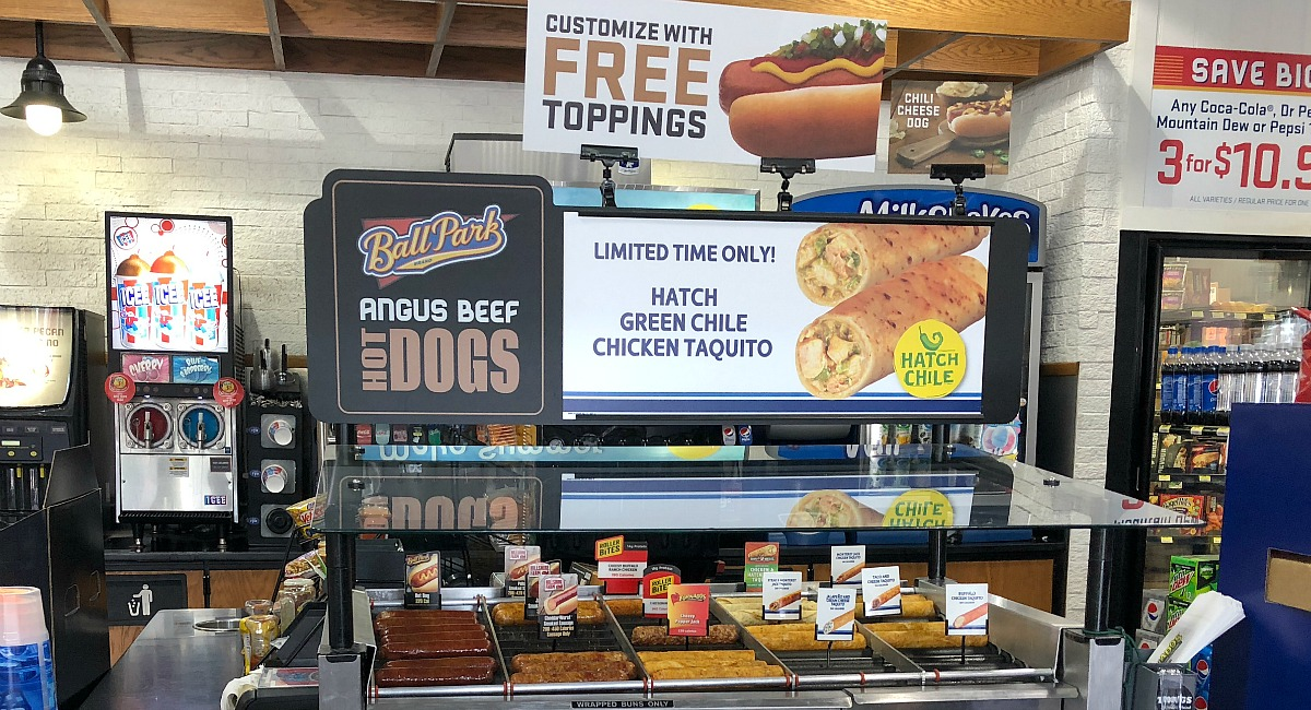 gas station keto-friendly snacks gas – ball park angus beef hot dogs on a roller cooker