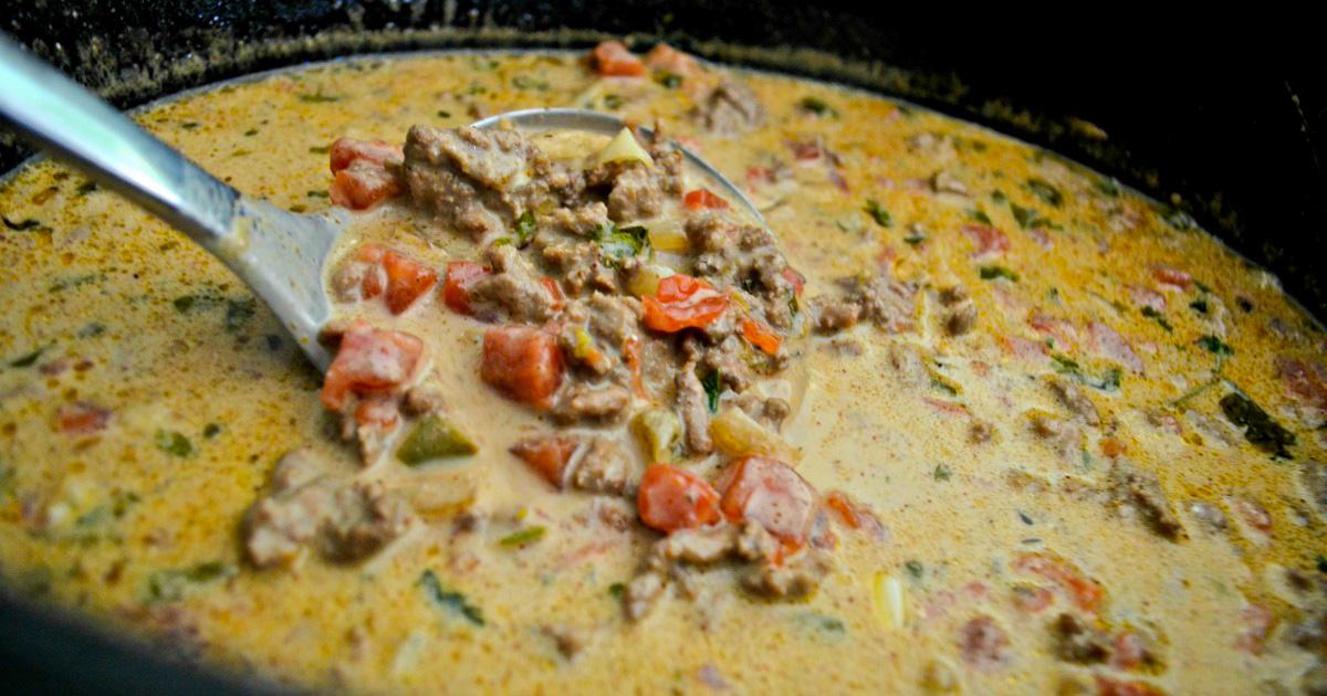 keto taco soup from hip2keto