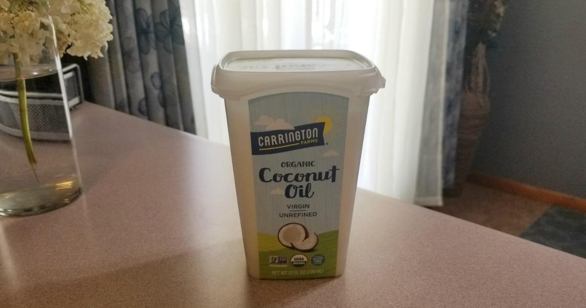 Ways to use coconut oil – carrington farms coconut oil on table
