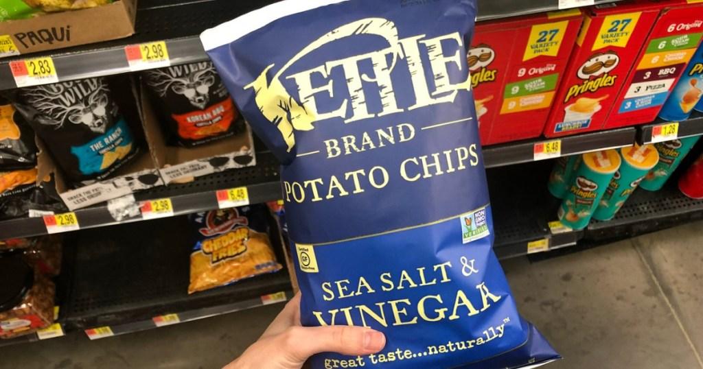 kettle chips in bag