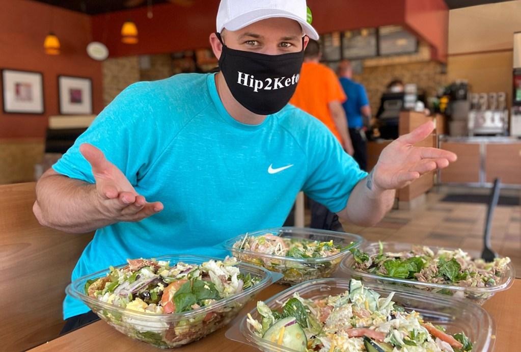man dining in a restaurant