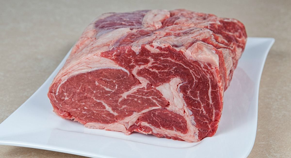 steak roast with fat marbling