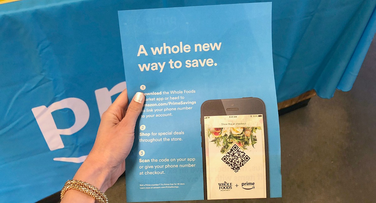 keto whole foods shopping tips to save money — flyer to download the whole foods app