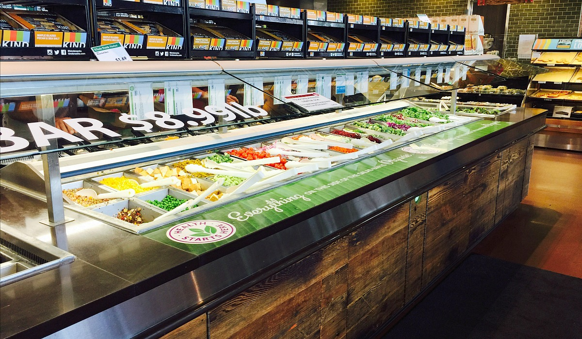 keto whole foods shopping tips to save money — salad bar at whole foods