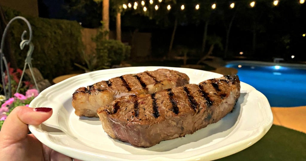 snake river farms grilled ribeye steaks