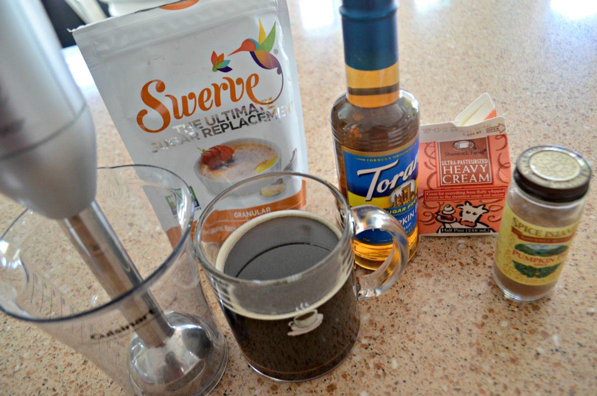 Ingredients for my Starbucks DIY Keto Pumpkin Spice Latte recipe