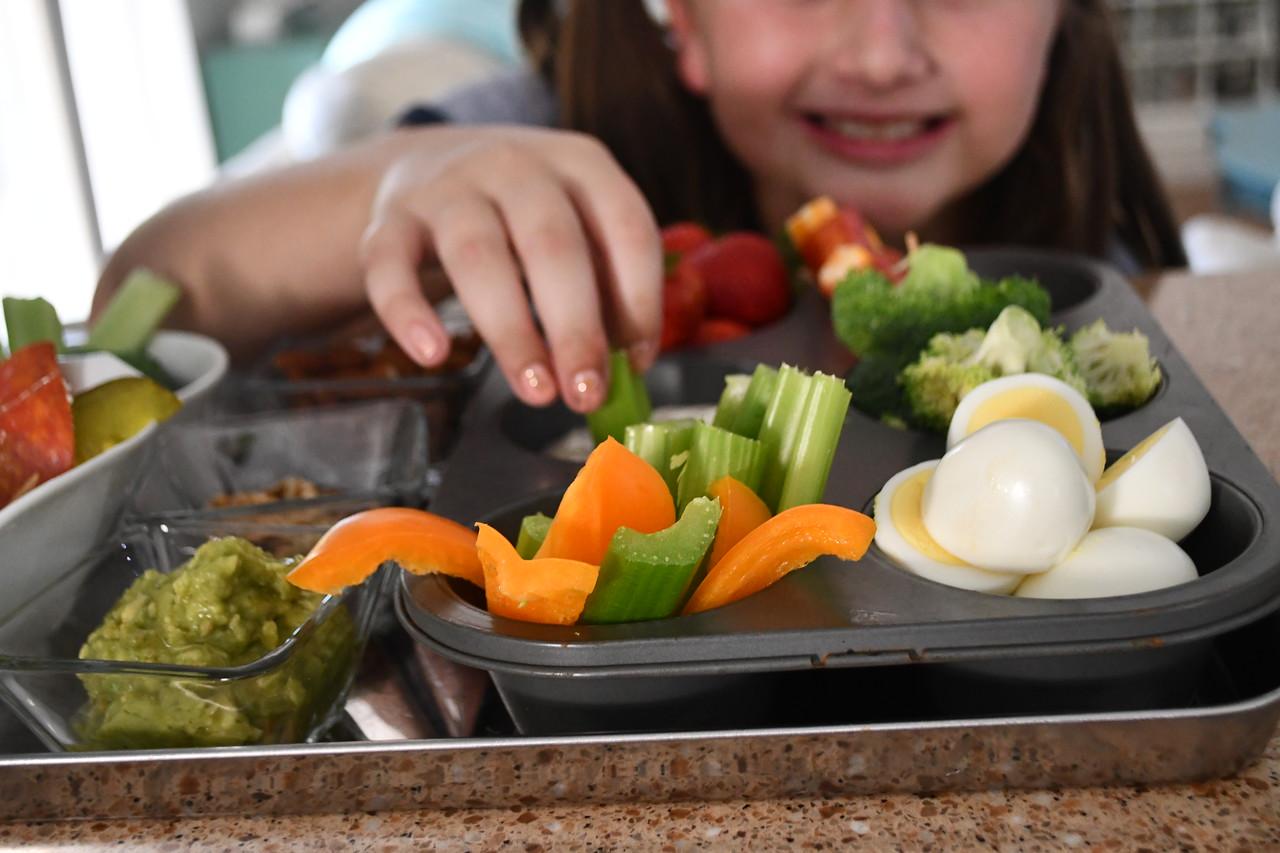 EASY Snack Based Keto Dinner - food arranged in trays