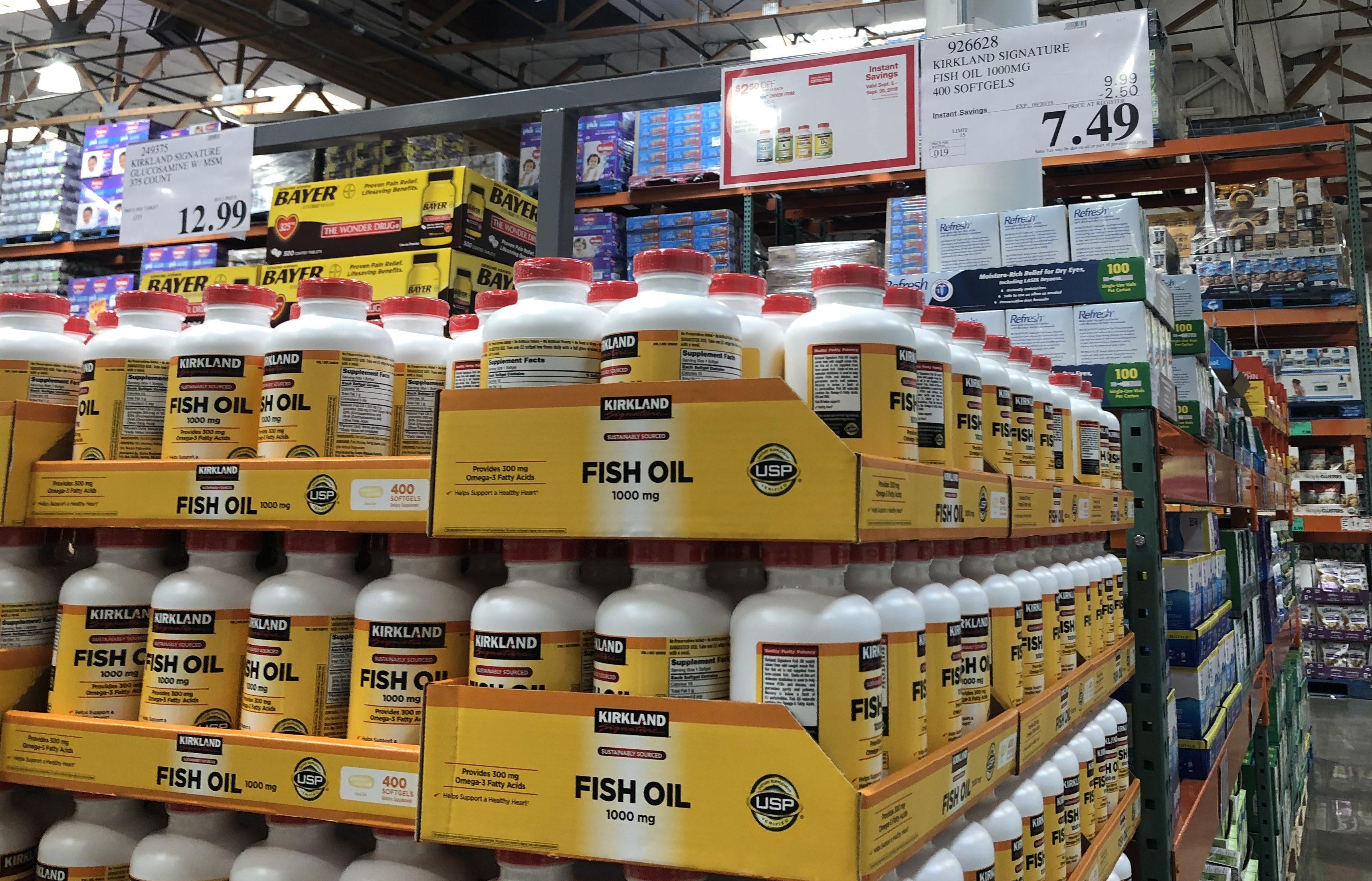 keto costco deals September 2018 – Kirkland Signature Fish Oil at Costco