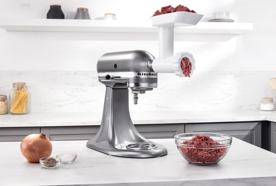 slice and grind meat and cheese with deals like this Kitchenaid meat grinder attachment