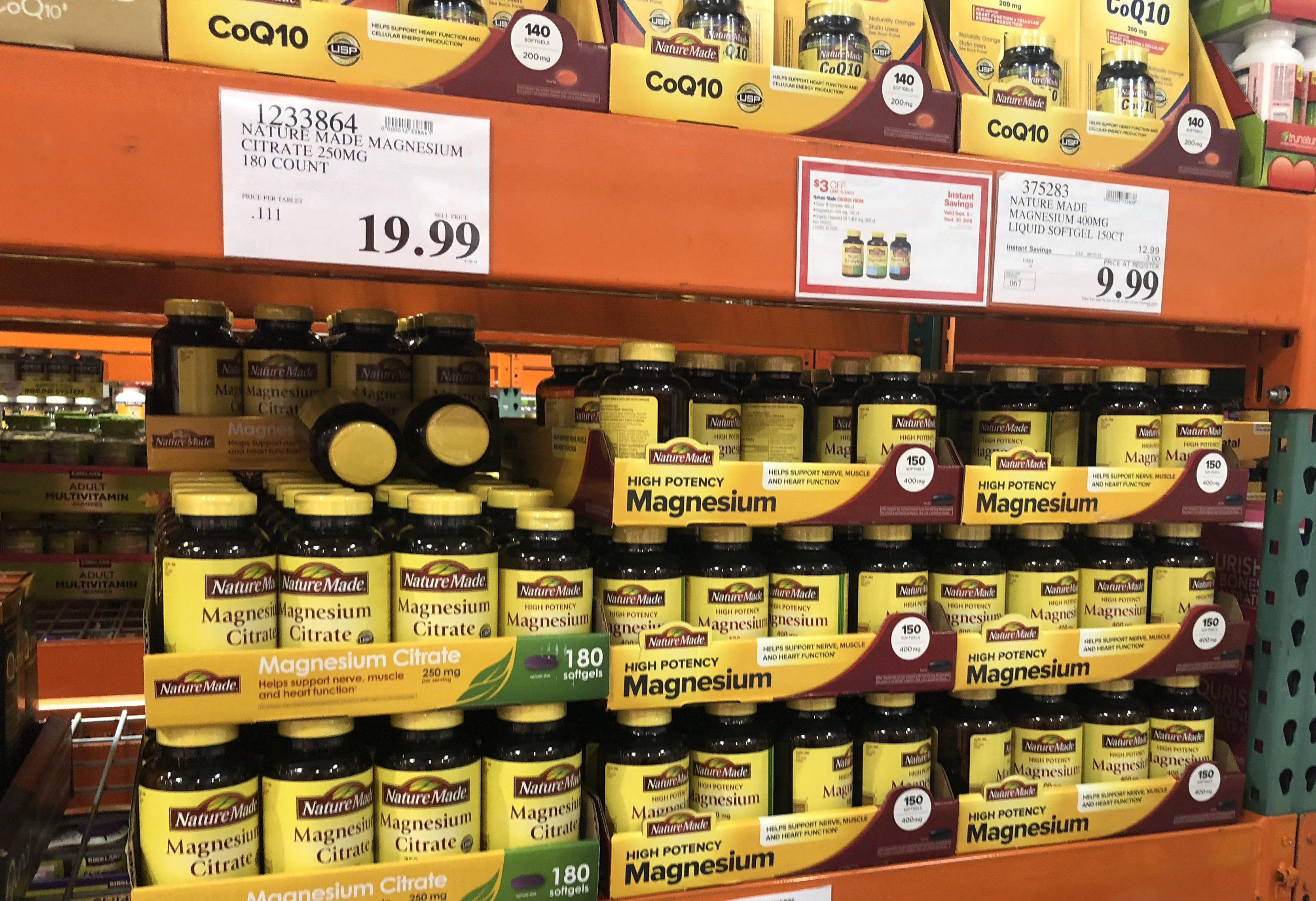 keto costco deals September 2018 – Nature Made Magnesium at Costco