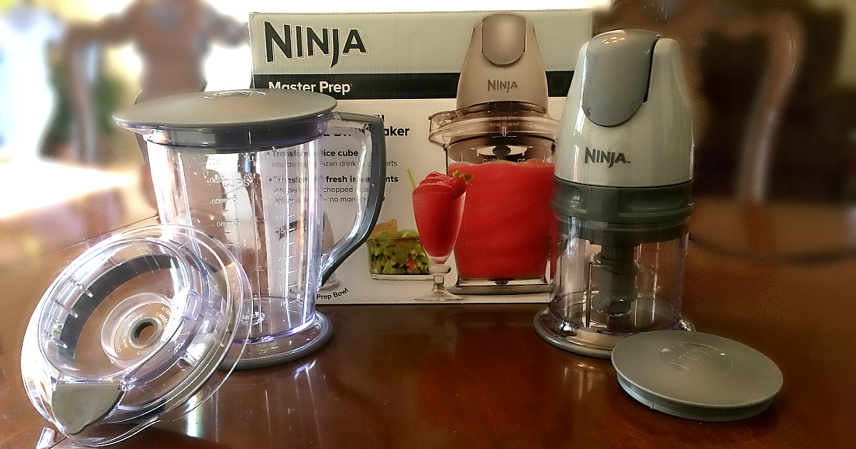 Ninja Master Prep is the perfect keto gadget - Pictured here with the box and most attachments
