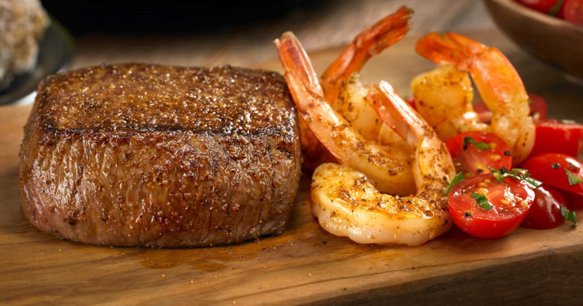 Outback Steakhouse steak and unlimited shrimp