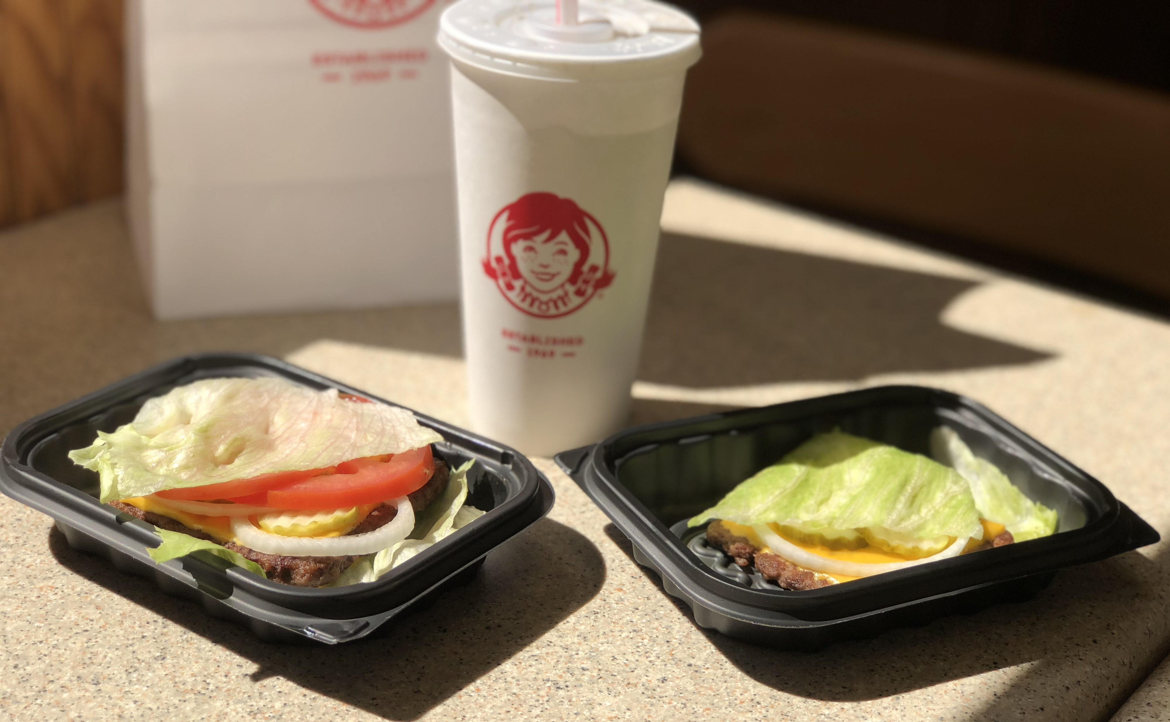 Wendy's Keto burgers like the ones in September you can get with this deal
